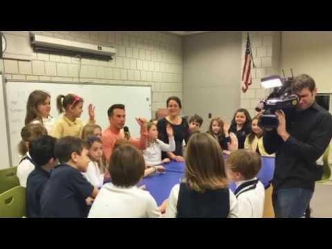 WNEP-TV's Ryan Leckey visited Wyoming Seminary Lower School!