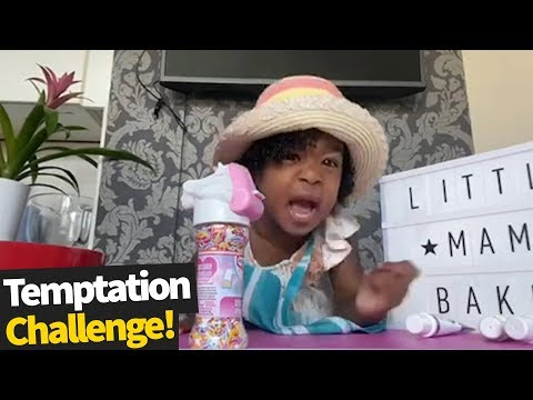 Toddler Pulls Funny Faces when trying the 'Temptation Challenge' | Don't Eat It Yet Challenge 2020