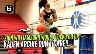 "Kaden Archie Tells Zion Williamson ""Try And Dunk On Me"" Baggage Claim Boys Open Gym!"