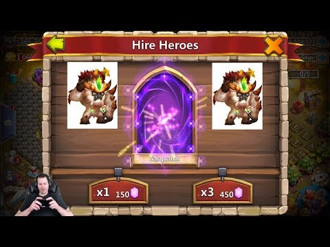 Rolling TWO Sasquatch's LIVE FELT Them Coming LUCKY Castle Clash