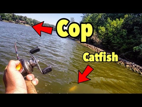 Giant WARTY Catfish And Stopped By The COP Again!
