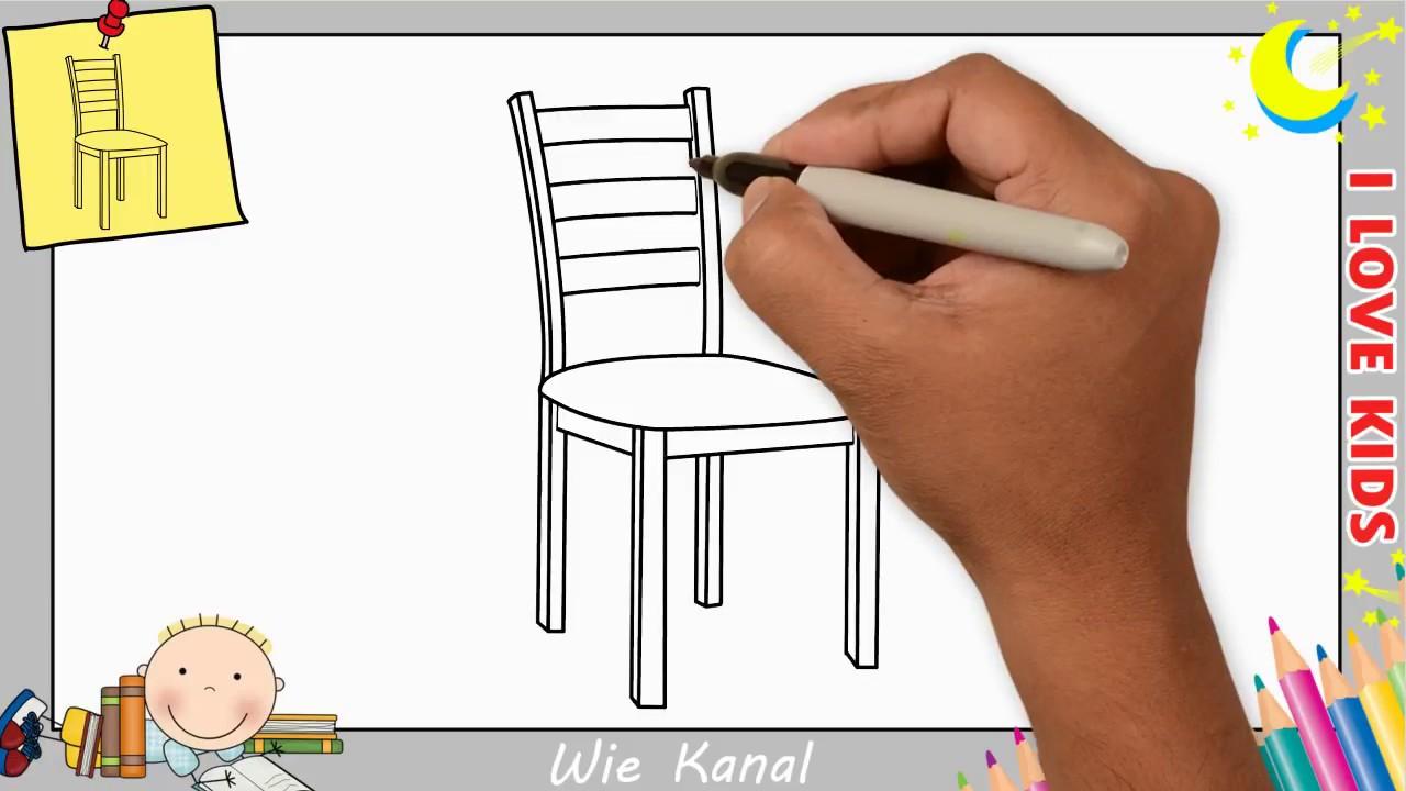 Stuhl Zeichnen Lernen Einfach Schritt Für Schritt Für Anfänger