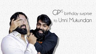 GP's BIRTHDAY SURPRISE TO UNNI MUKUNDAN | GOVIND PADMASOORYA