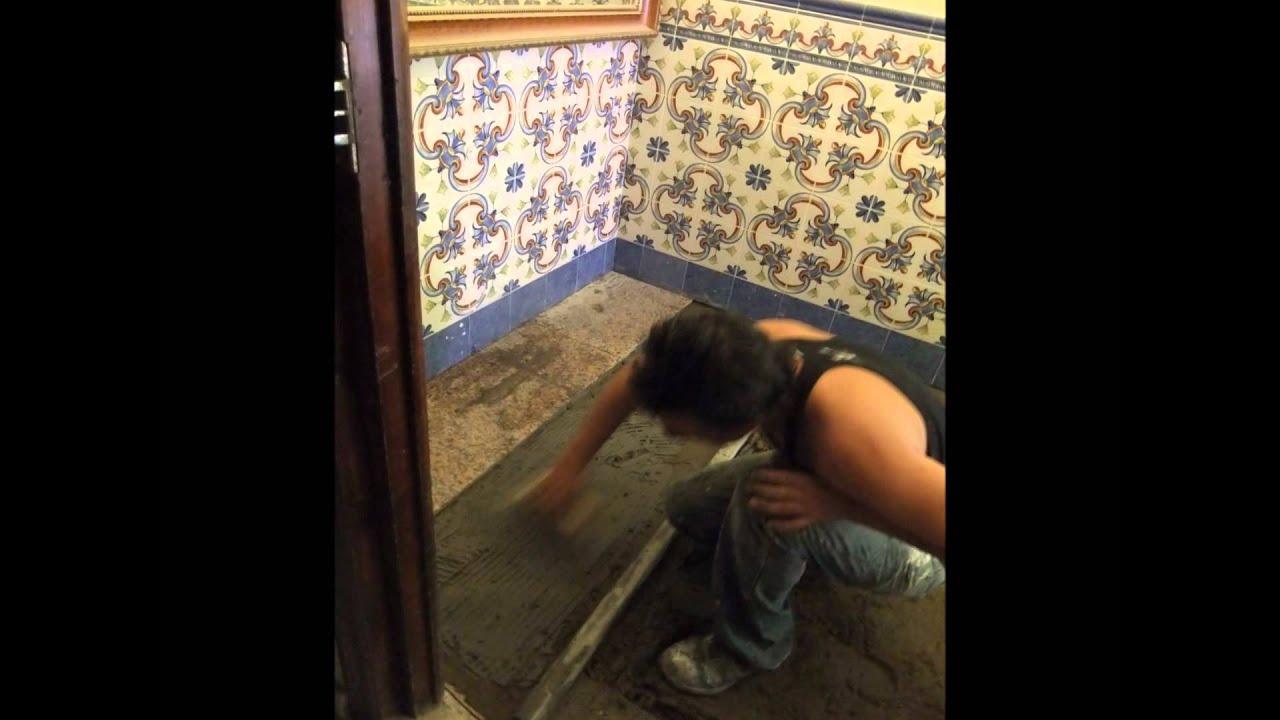 Video de la construccion de un cuarto de ba o youtube - Videl de bano ...