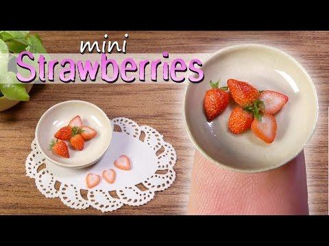 How To Miniature Strawberry Tutorial // DIY Miniature Food www.sugarcharmshop.dk