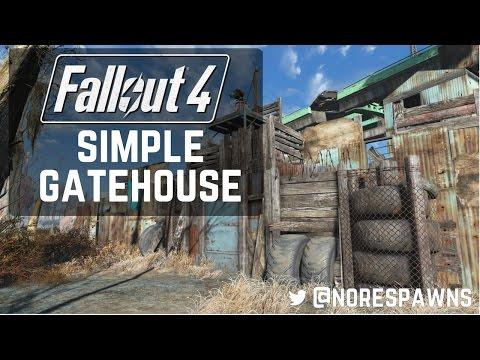 Fallout 4 - Simple Settlement Gatehouse Build