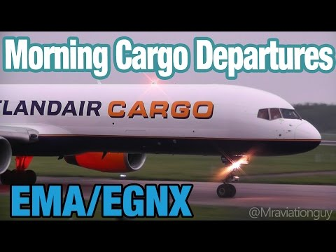East Midlands - Morning Cargo Spotting | Departures - Air Contractors, Icelandair, TNT, Atlantic