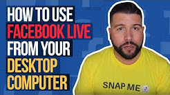 How to Use Facebook Live From Your Desktop Computer