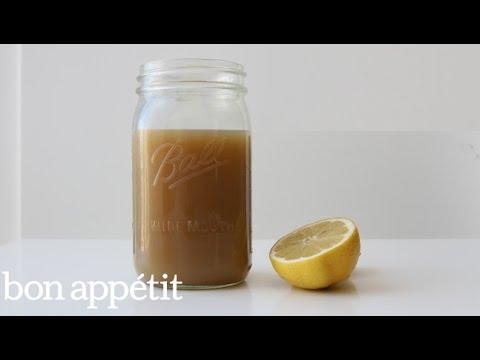 How to Make Soothing Lemon Ginger Brew | Bon Appetit