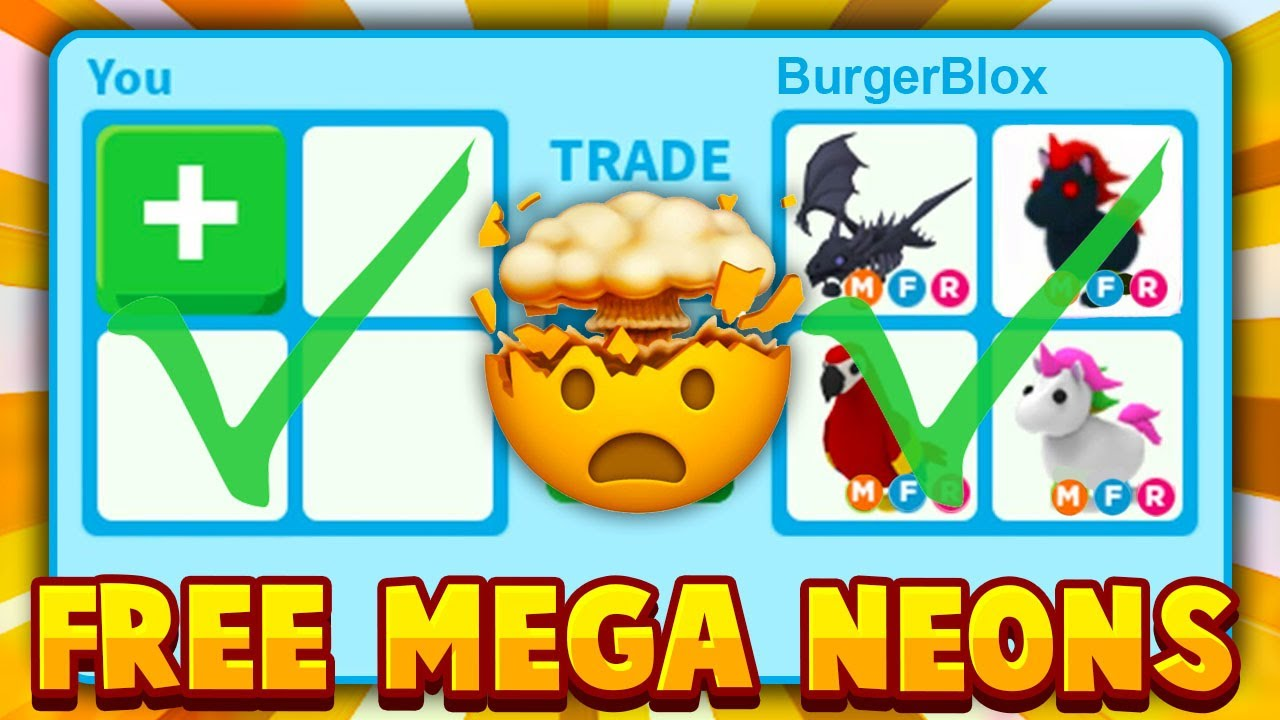 What People Trade For All Mega Neon Legendary Pets In Roblox Adopt Me Roblox Adopt Me Trading Youtube