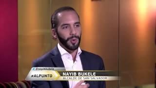 Jorge Ramos habla con el Alcalde de San Salvador, Nayib Bukele (Agosto 2015)