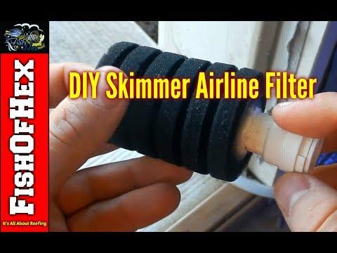 DIY Skimmer Airline Filter | Fish Room