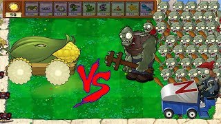 Plants vs Zombies hack - 3 COP CANNON vs all Zombies