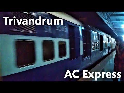 22207 Thiruvananthapuram Chennai Central SUPER AC Express with Rare ICF blue Coaches and Generator