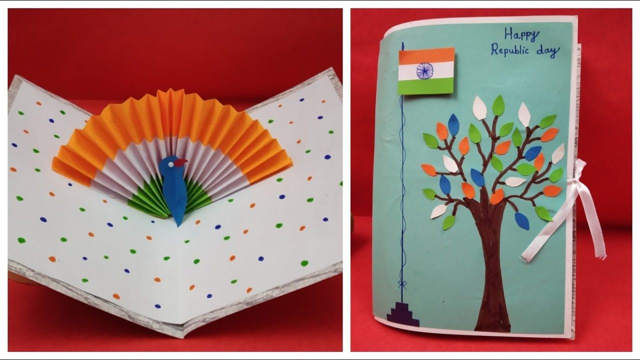 Greeting Card Idea For Republic Day Independence Day Republic Day