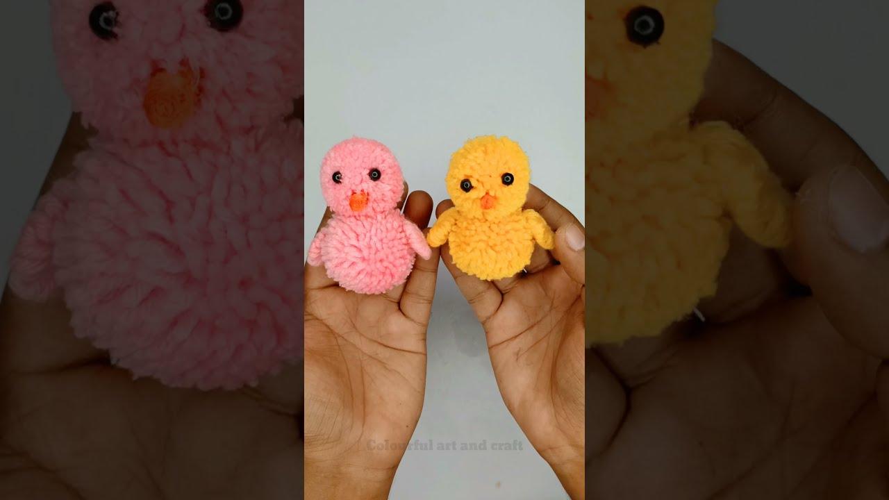 How to make Pom Pom Cute Chick #shorts