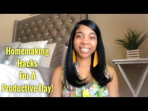 8 Homemaking Hacks For A Productive Day! | The Habits of a Homemaker!