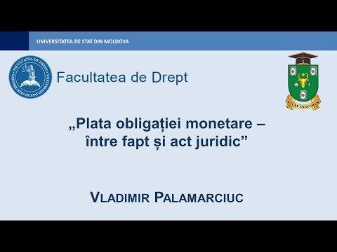 Vladimir Palamarciuc — Plata obligației monetare – între fapt și act juridic