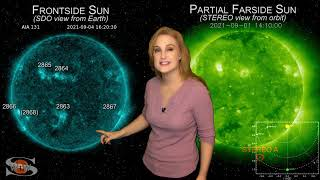 Bunch of New Bright Regions & An Earth-Directed Solar Storm   Space Weather News 09.05.2021