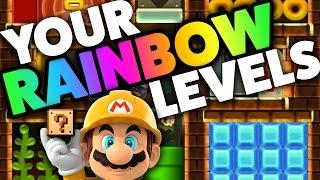 Super Mario Maker - RAINBOW LEVELS! - Creation Challenge [#12]