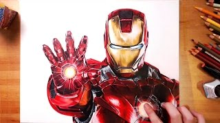 Iron Man (Tony Stark) - speed drawing | drawholic