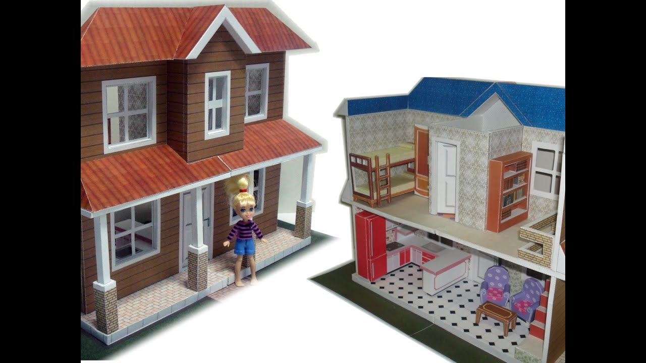 Papercraft Make your own Polly Dollhouse paper model