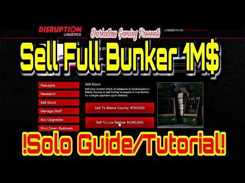 GTA V Sell Full Bunker Solo 100% Guide/Tutorial!! $$$