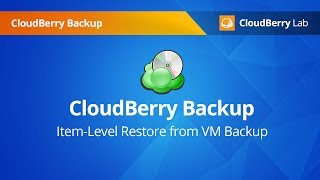 Item-level restore for VMware and Hyper-V with CloudBerry Backup