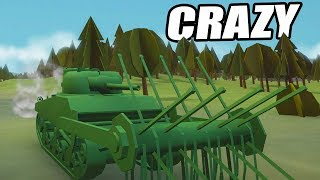 The CRAZIEST Vehicle EVER!  (Total Tank Simulator Gameplay Part 2)