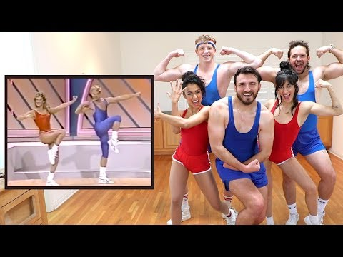 80's Aerobic Music Video - Best Danceoke Video!