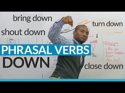 """""""DOWN"""" Phrasal Verbs in English: close down, bring down, break down..."""
