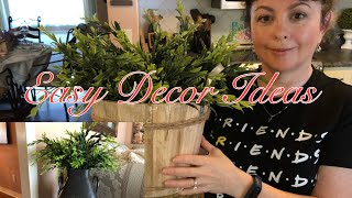 Tuscan | French Country | Farmhouse Decor Ideas  Using Greenery 2019