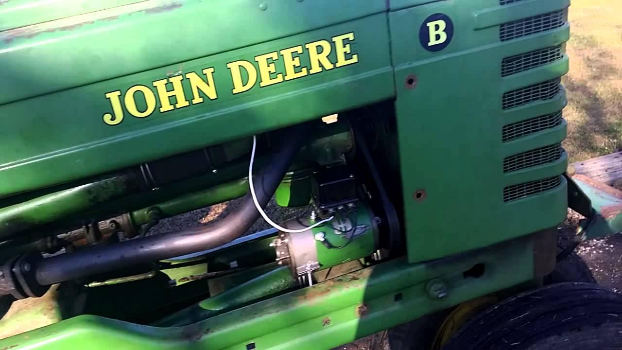 hight resolution of 1951 john deere b generator installed and working