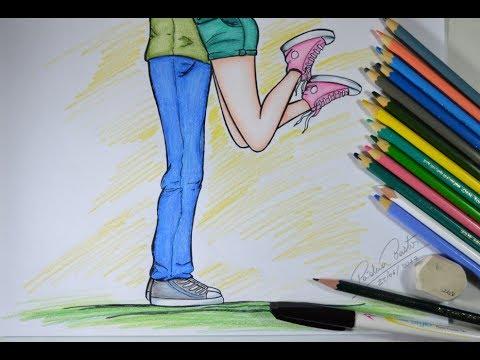 Desenhando Casal Estilo Tumblr Arteeciabrasil Youtube