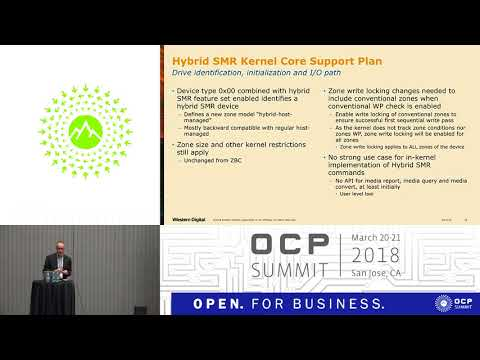 OCPUS18 –Linux Kernel Support for Hybrid SMR Devices