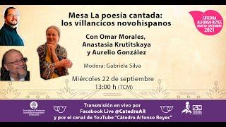 """Mesa """"La poesía cantada: los villancicos novohispanos""""."""
