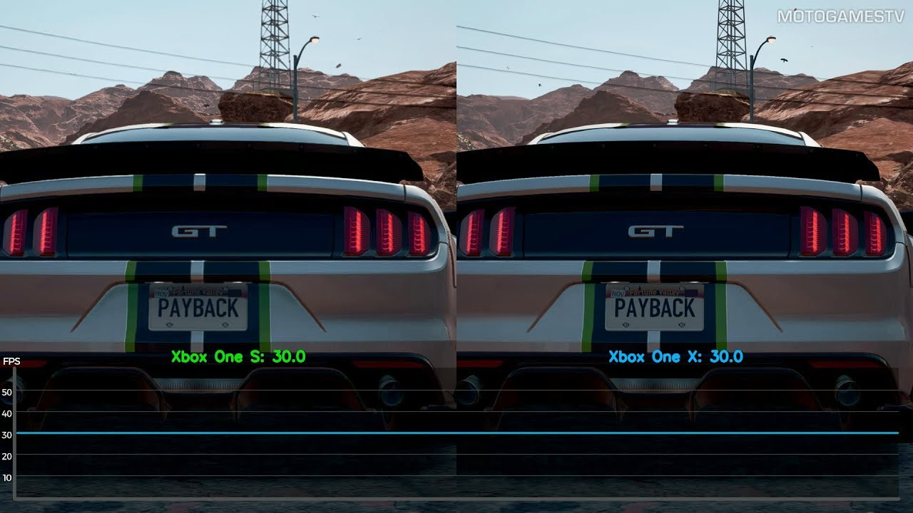 Need For Speed Payback Xbox One S Vs Xbox One X Frame Rate
