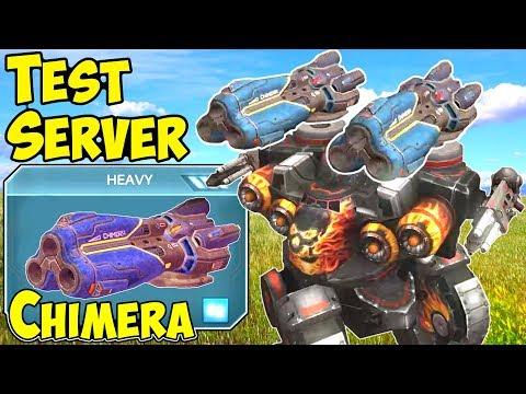 War Robots New Heavy Weapon Chimera Test Server Gameplay WR