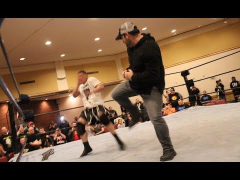 Red Power Ranger AUSTIN ST JOHN Confronts Pro Wrestler Benny Jux In BOSTON