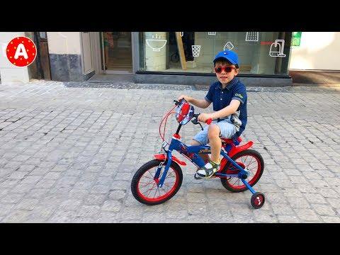 видео: Адам Катается на Велосипеде и Весело Проводит Время с Папой