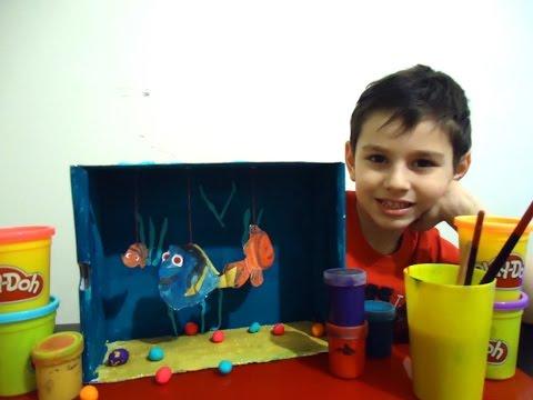 Поделки Аквариум своими руками Плей до В поисках Дори Application Aquarium Finding Dory