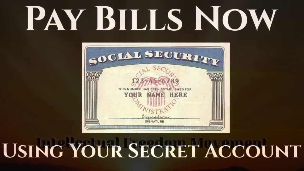 Harvey Dent: How to Use the SSN to Pay Any Bill Through the Federal