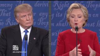 Trump and Clinton debate their economic policies