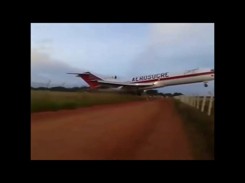Aerosucre Boeing 727 CRASH at Colombia