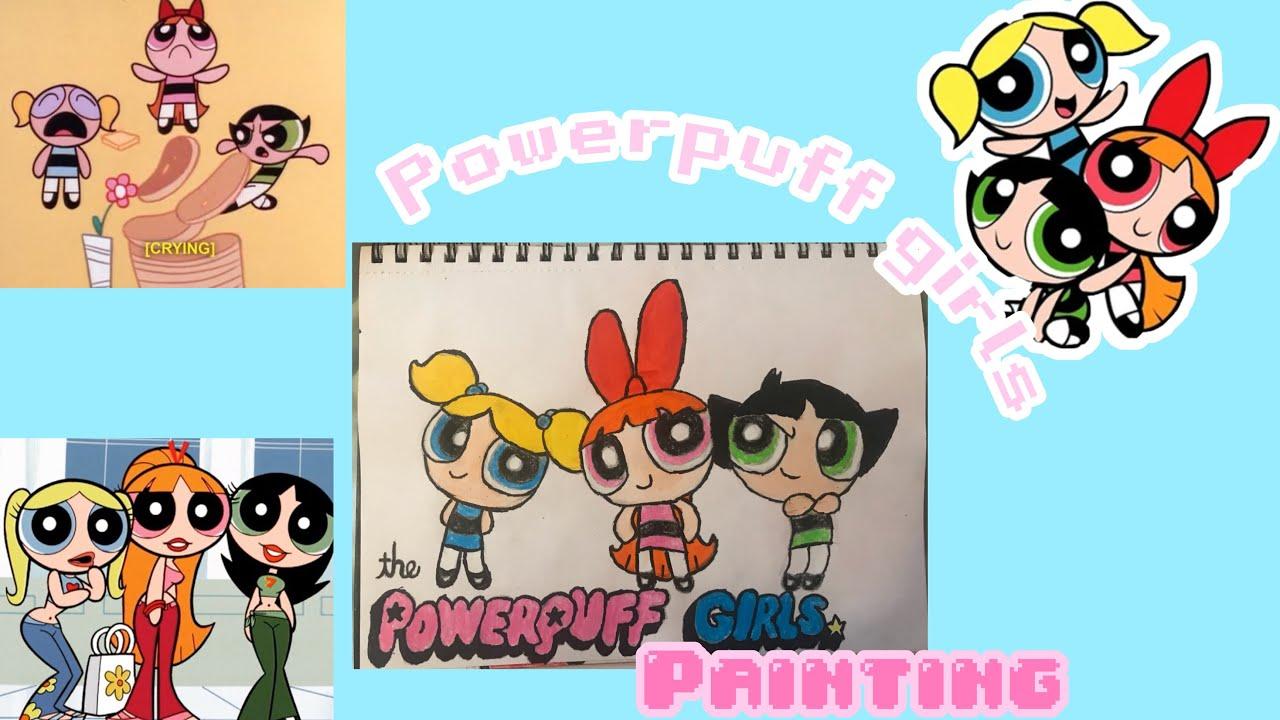 Cartoon Character Series Powerpuff Girls Timelapse Painting