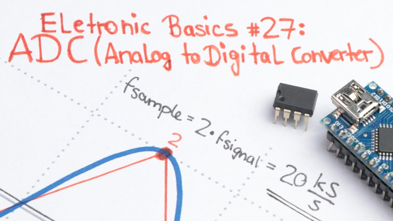 Electronic Basics 27 Adc Analog To Digital Converter Youtube Asymmetrical Inverting Schmitt Trigger Electronics Tutorial