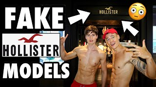 Pretending to be SHIRTLESS GREETERS at HOLLISTER! (Social Experiment)