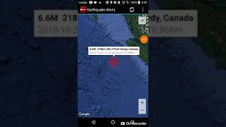 Port Hardy, Canada Earthquake October 22nd, 2018
