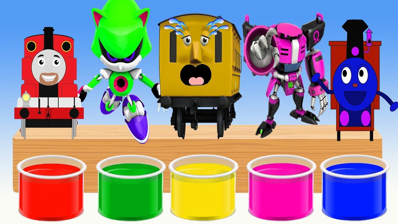 Colors shower Team Super Wings thomas and friends Colors for kids Finger Family Nursery