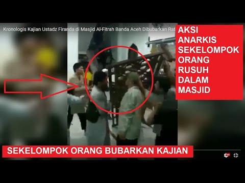Kronologis Kajian Ustadz Firanda di Masjid Al-Fitrah Banda Aceh Dibubarkan Ratusan Warga